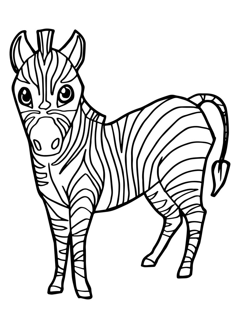 Top 20 Printable Zebra Coloring Pages