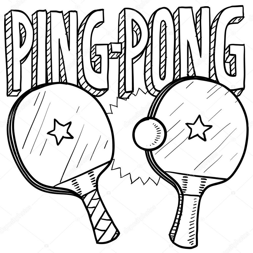Top 20 Printable Table Tennis Coloring Pages