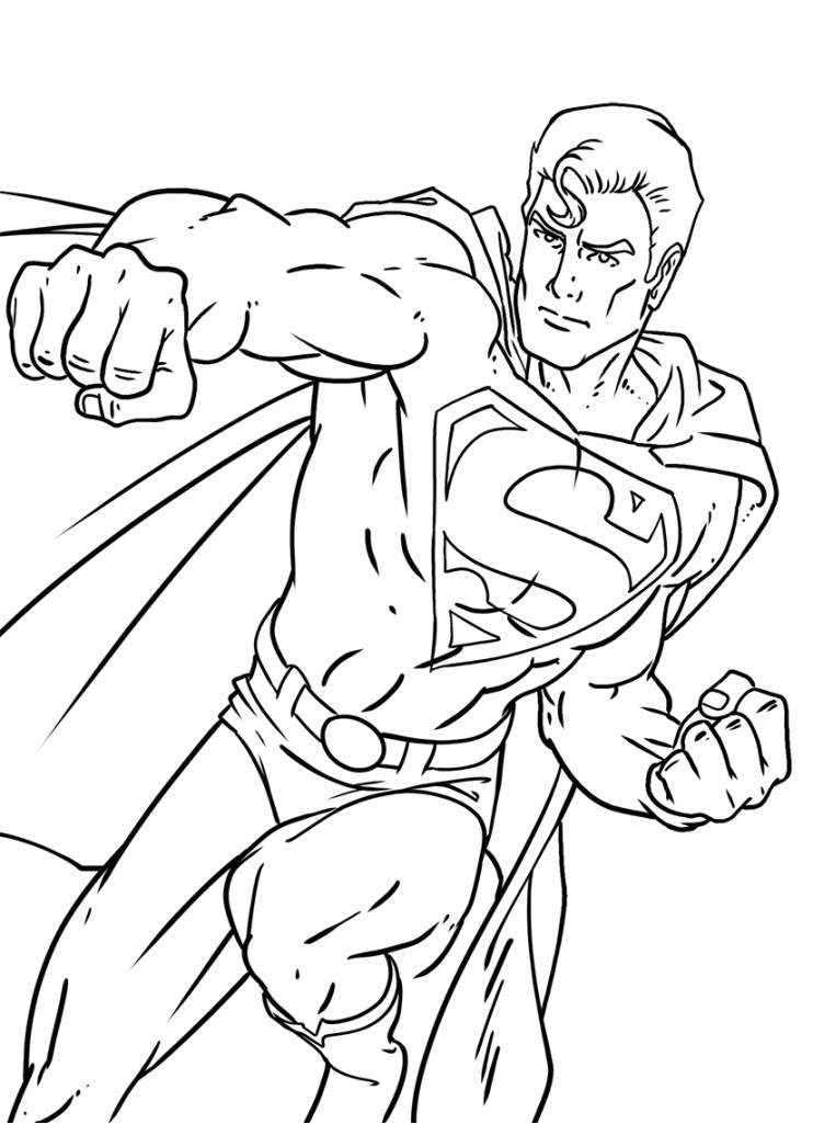 Top 20 Printable Superman Coloring Pages - Online Coloring ...