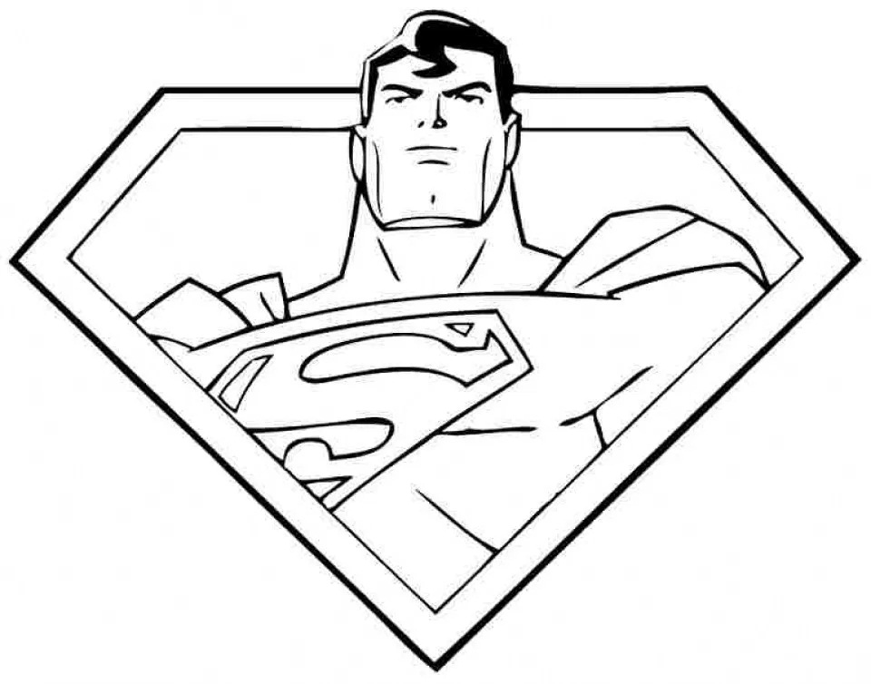 Top 20 Printable Superman Coloring Pages