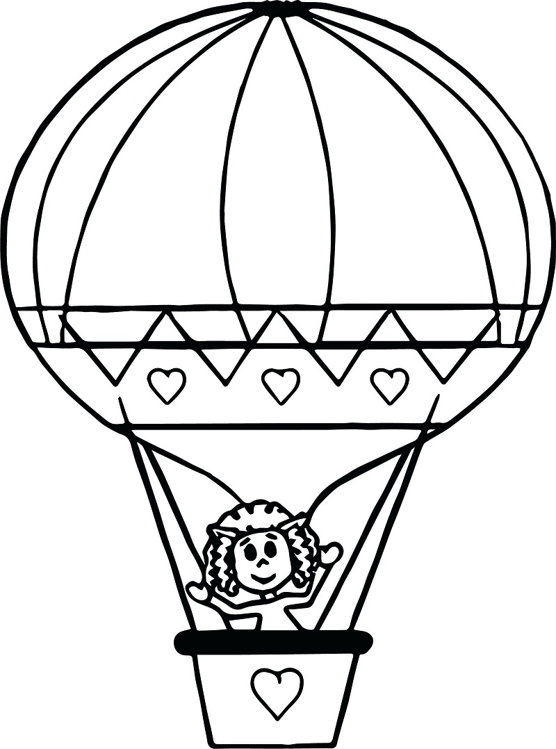Top 20 Printable Hot Air Balloon Coloring Pages