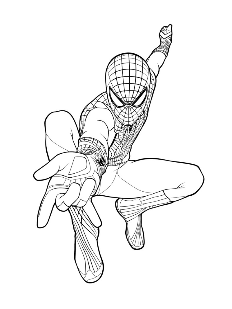 Top 20 Printable Spiderman Coloring Pages