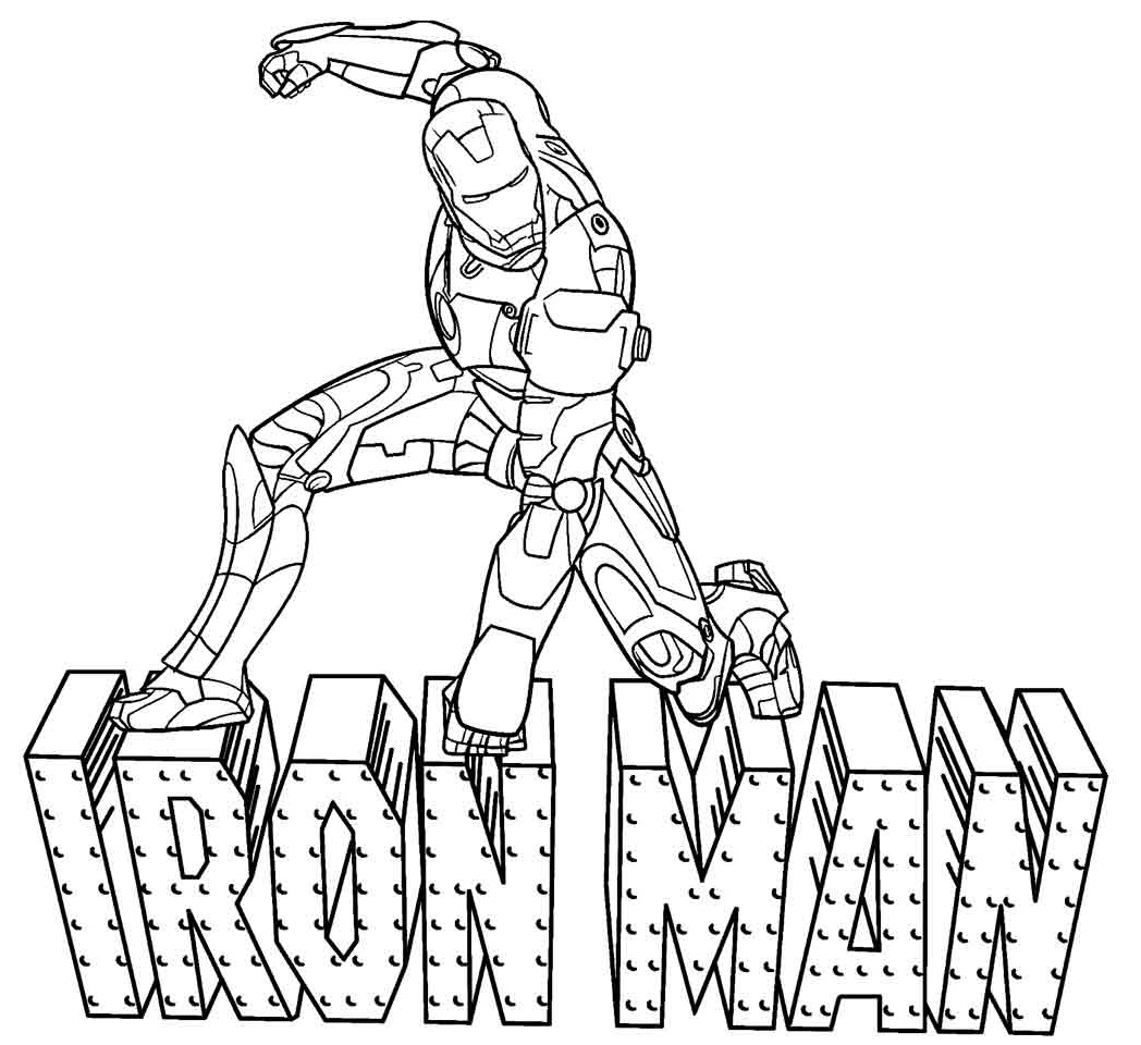 Top 20 Printable Iron Man Coloring Pages