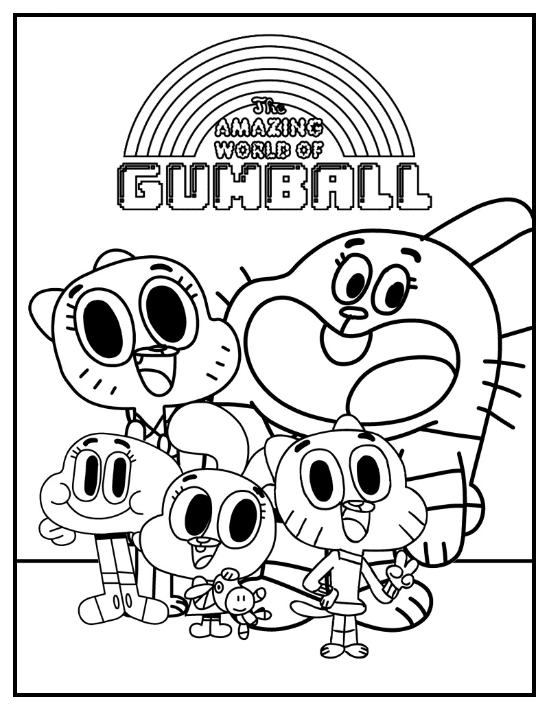 Top 20 Printable Gumball Coloring Pages