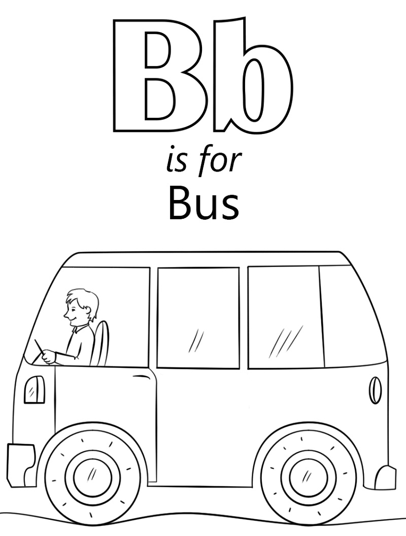 Top 20 Printable Letter B Coloring Pages