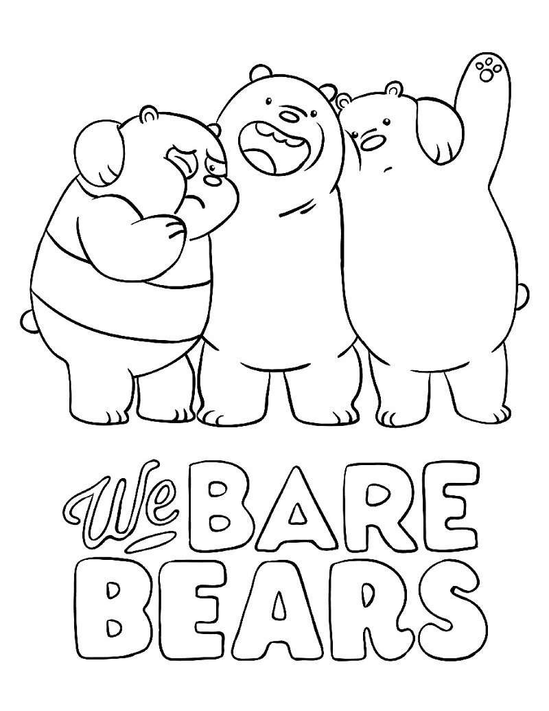 Top 20 Printable We Bare Bears Coloring Pages