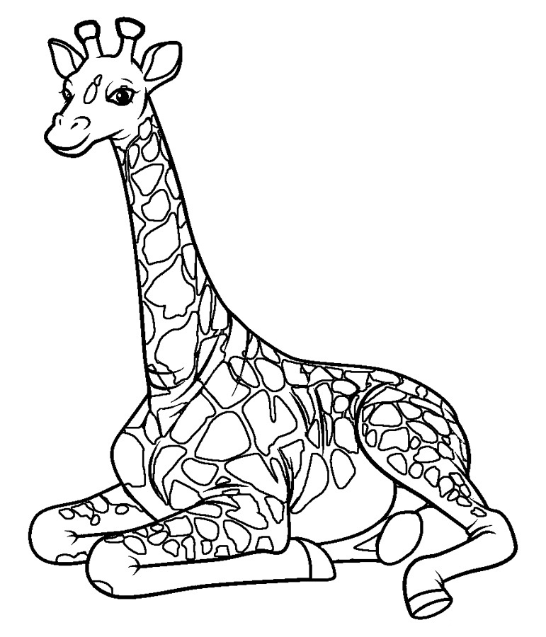 Top 20 Printable Giraffe Coloring Pages - Online Coloring ...
