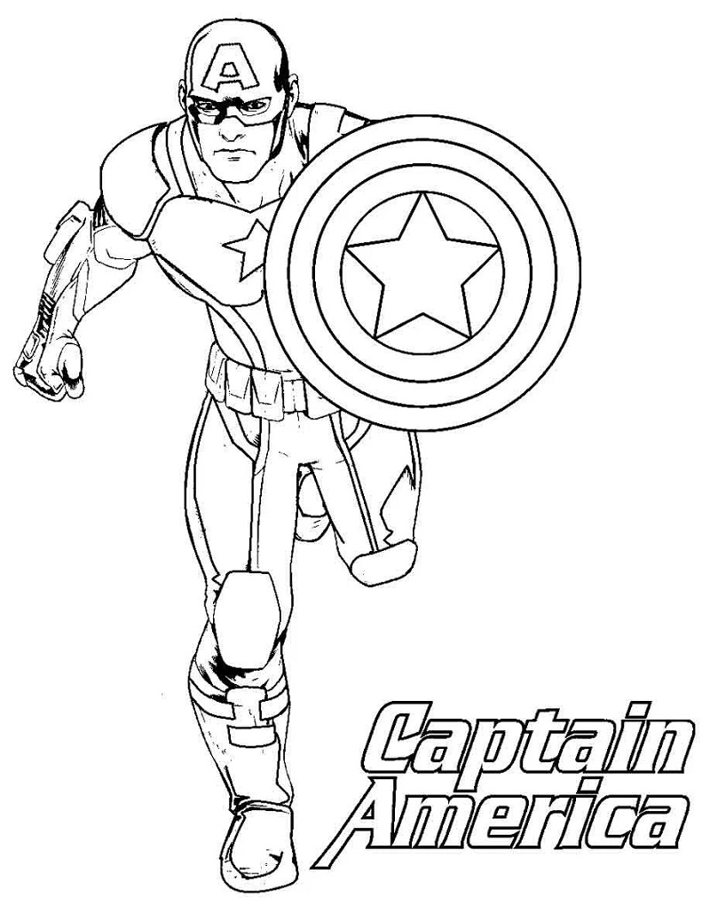 Top 20 Captain America Coloring Pages