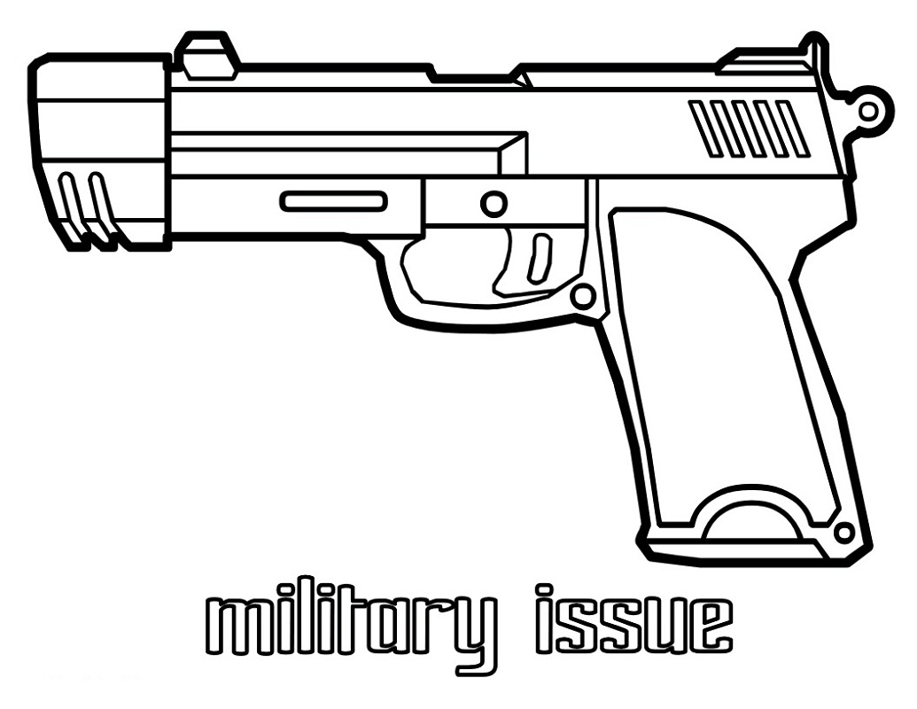 Top 20 Printable Weapons Coloring Pages
