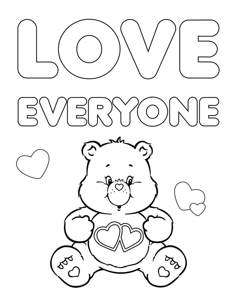Top 20 Printable Care Bears Coloring Pages
