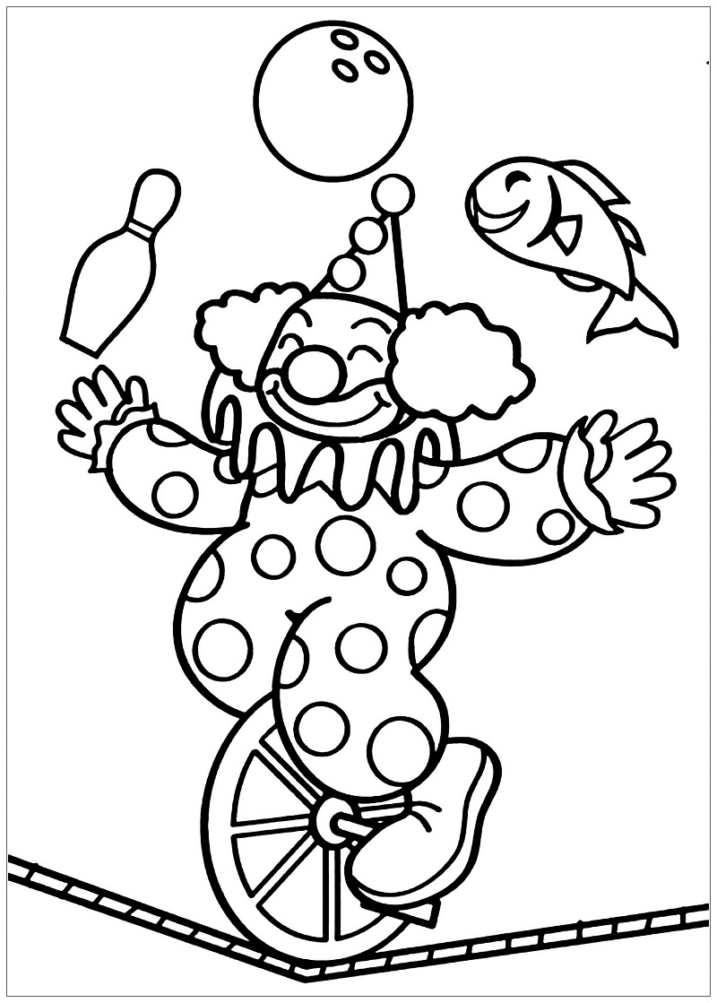 Top 20 Printable Circus Coloring Pages - Online Coloring Pages