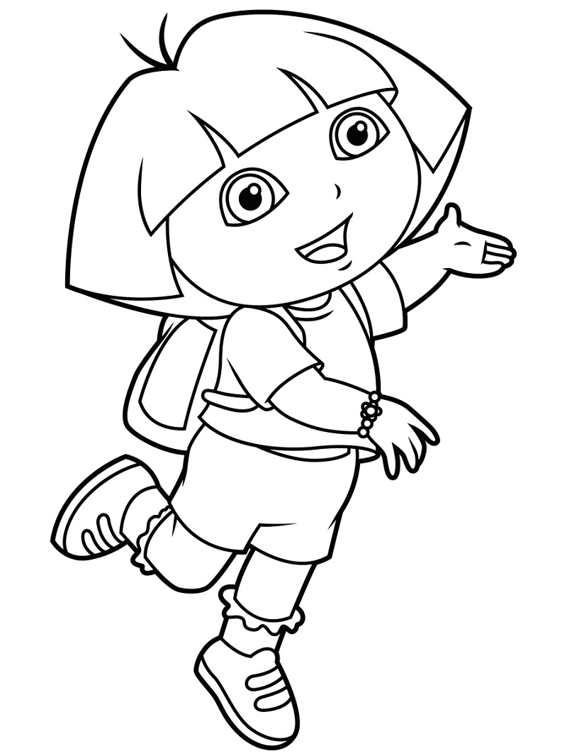 Top 20 Printable Dora the Explorer Coloring Pages