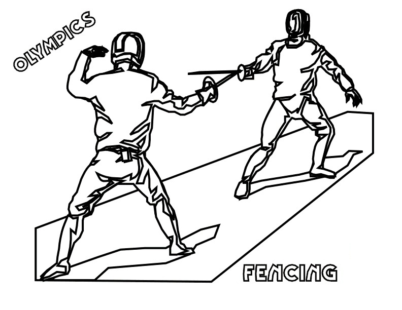 Top 12 Printable Fencing Coloring Pages