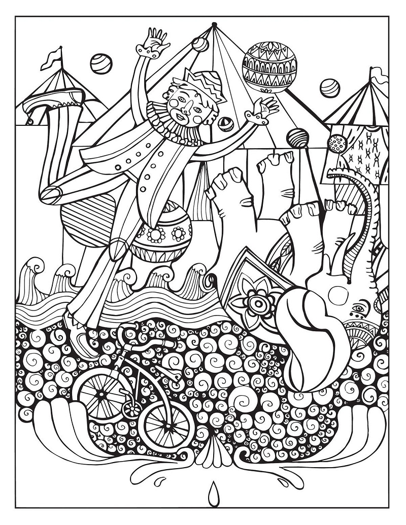 Top 20 Printable Circus Coloring Pages