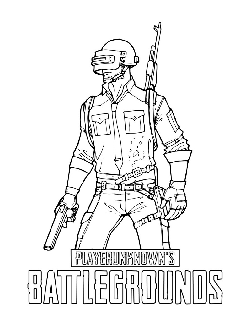 Top 12 Printable PUBG Coloring Pages