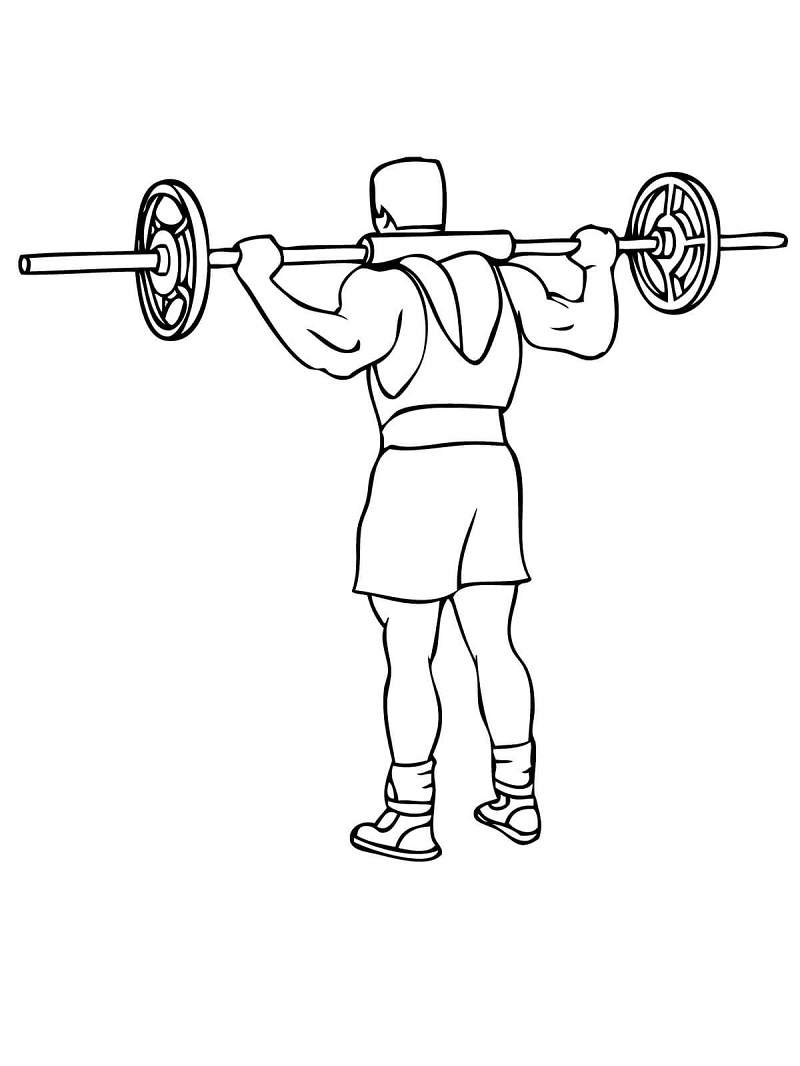 Top 16 Printable Weight Lifting Coloring Pages