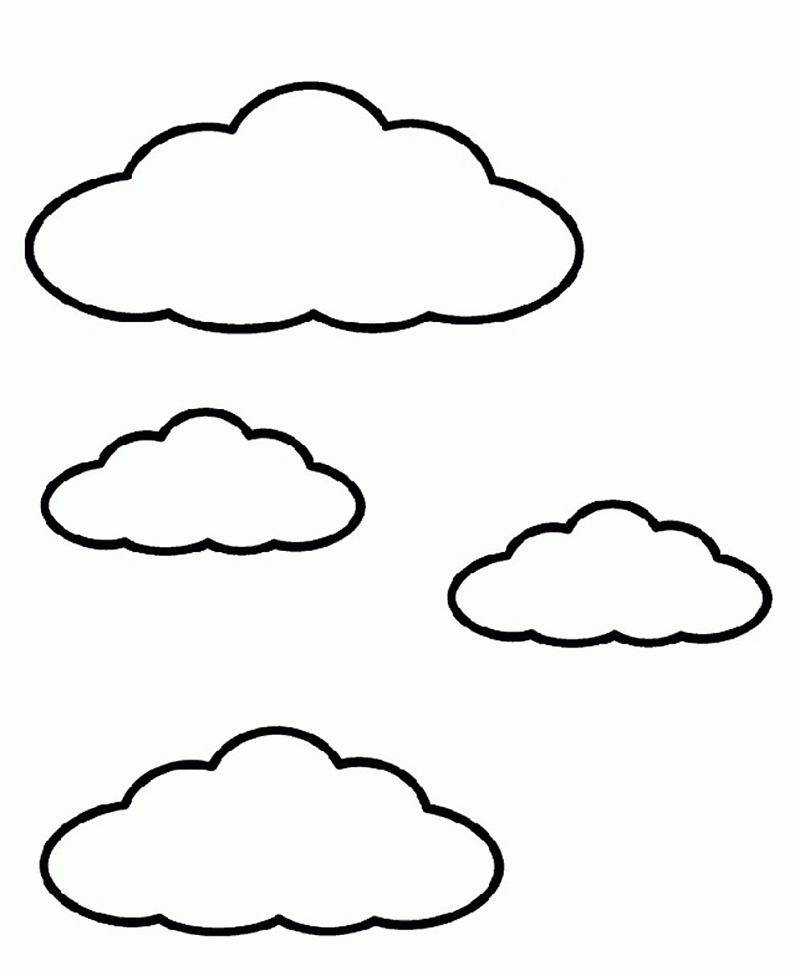 Top 20 Printable Cloud Coloring Pages