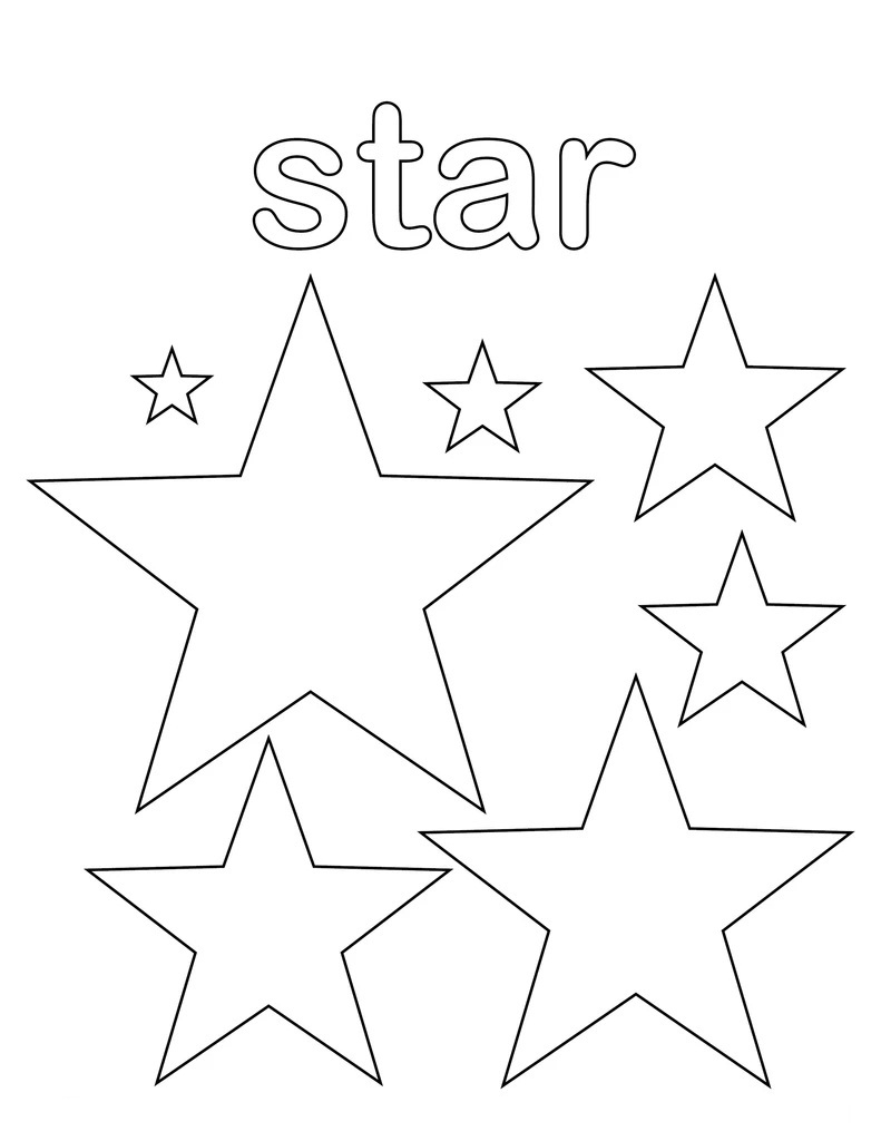 Top 20 Printable Star Coloring Pages