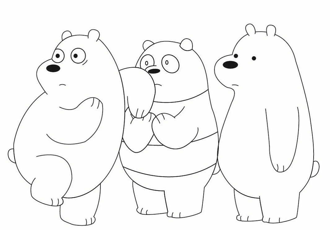 We Bare Bears Coloring Pages Coloring Pages