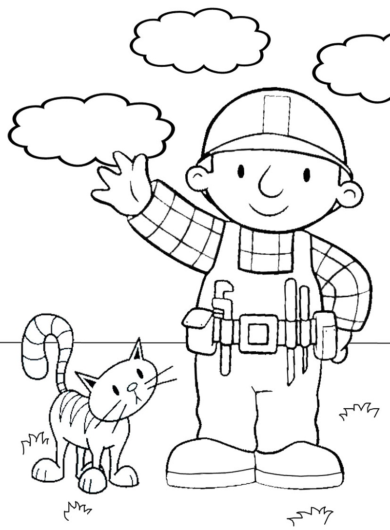 Top 20 Printable Bob the Builder Coloring Pages