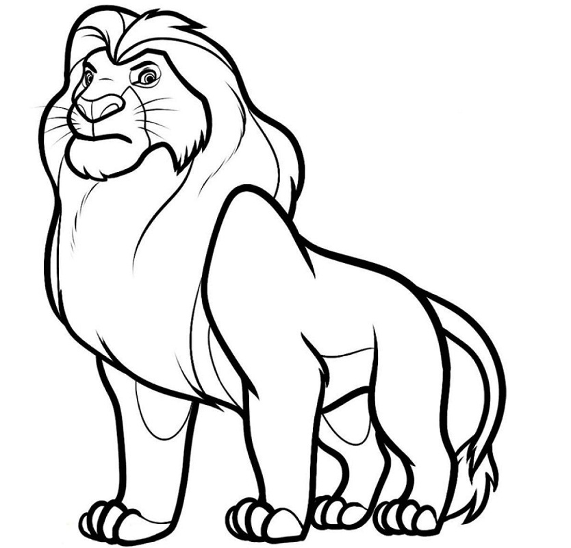 Top 20 Printable The Lion King Coloring Pages
