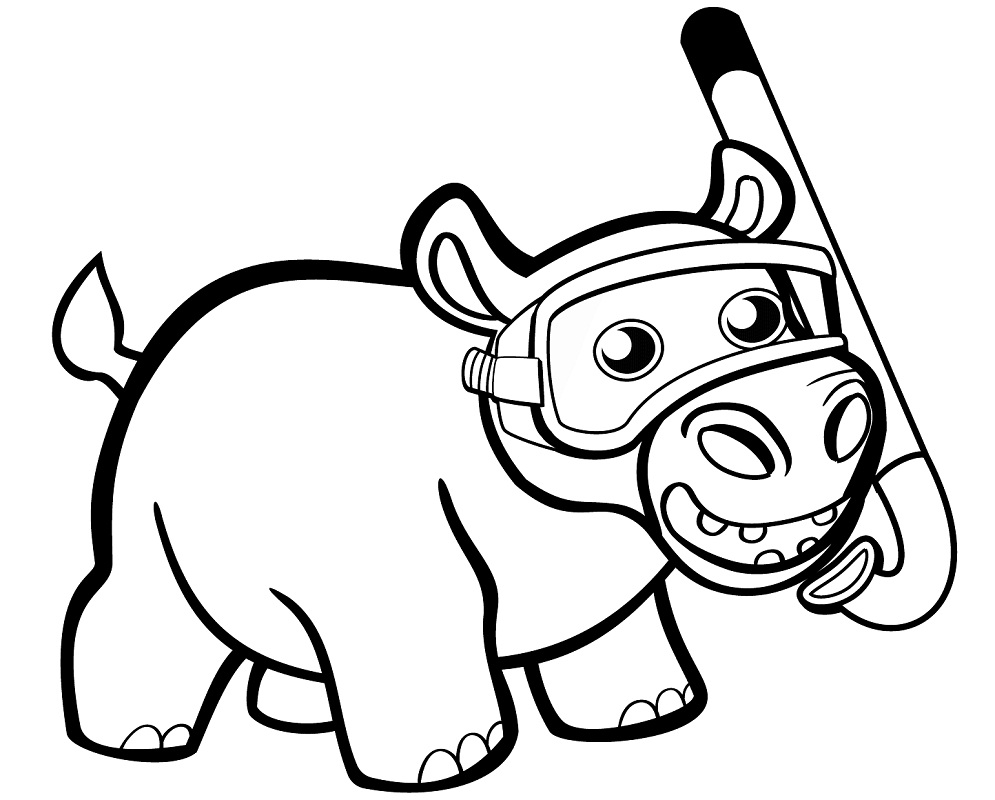 Top 20 Printable Hippo Coloring Pages - Online Coloring Pages