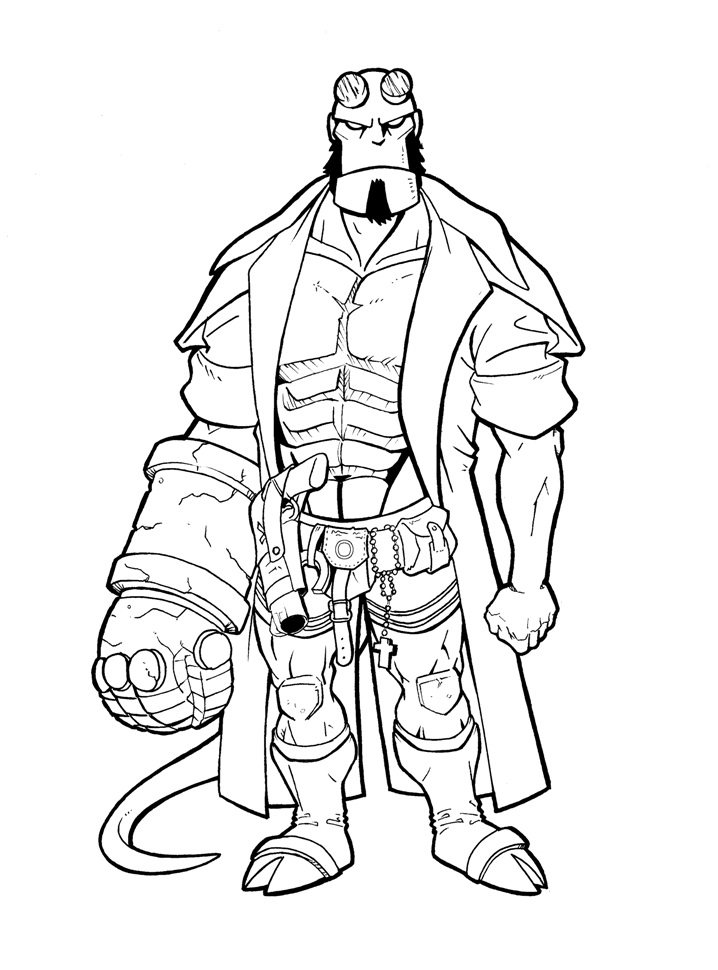 Top 20 Printable Hellboy Coloring Pages Online Coloring Pages