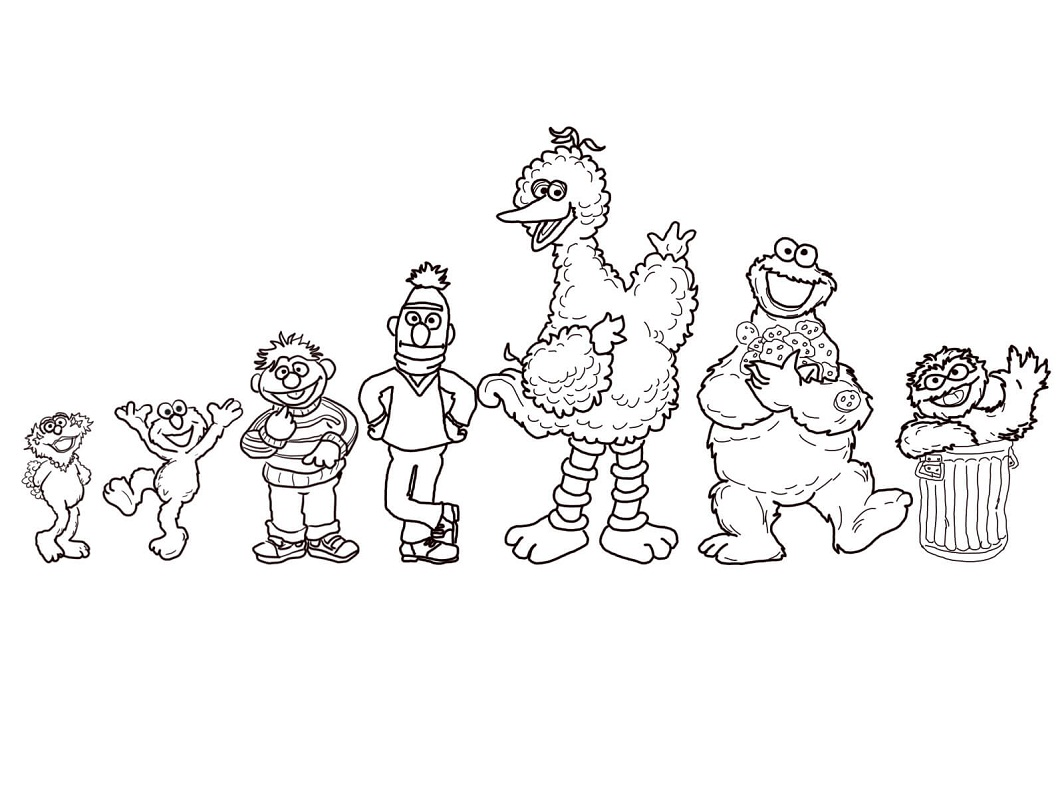 Top 20 Printable Sesame Street Coloring Pages