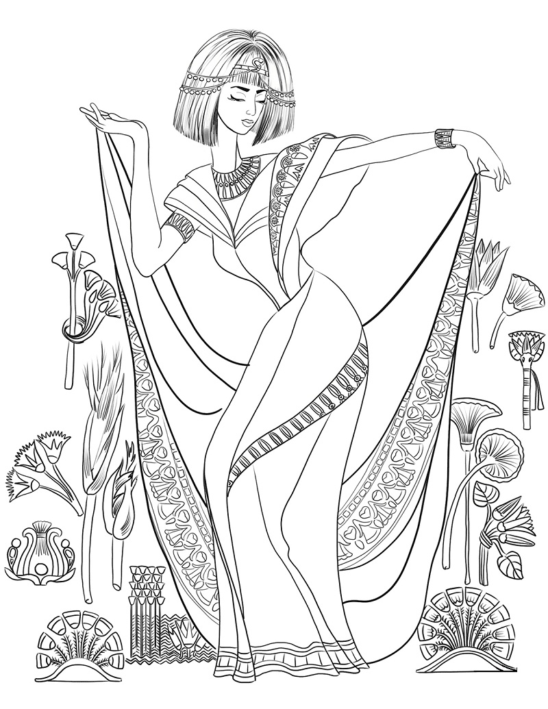 Top 20 Printable Ancient Egypt Coloring Pages