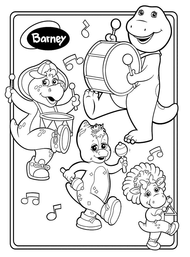 Top 20 Printable Barney and Friends Coloring Pages