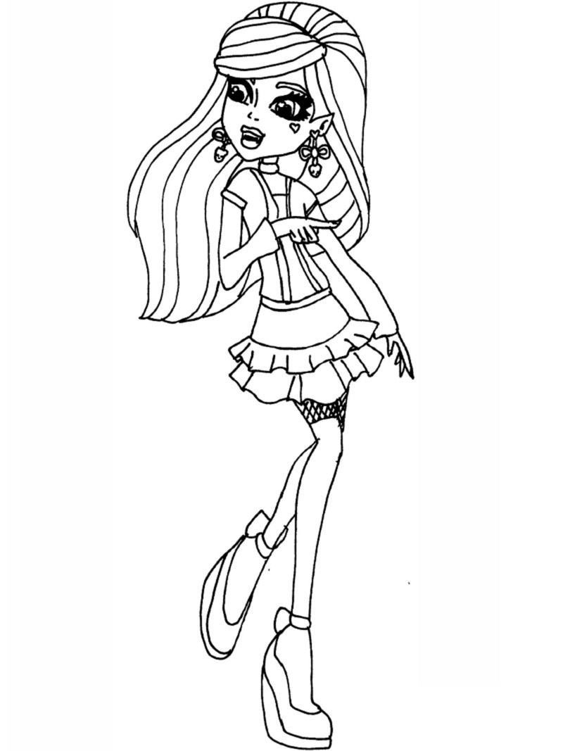 Top 20 Printable Monster High Coloring Pages Online Coloring Pages