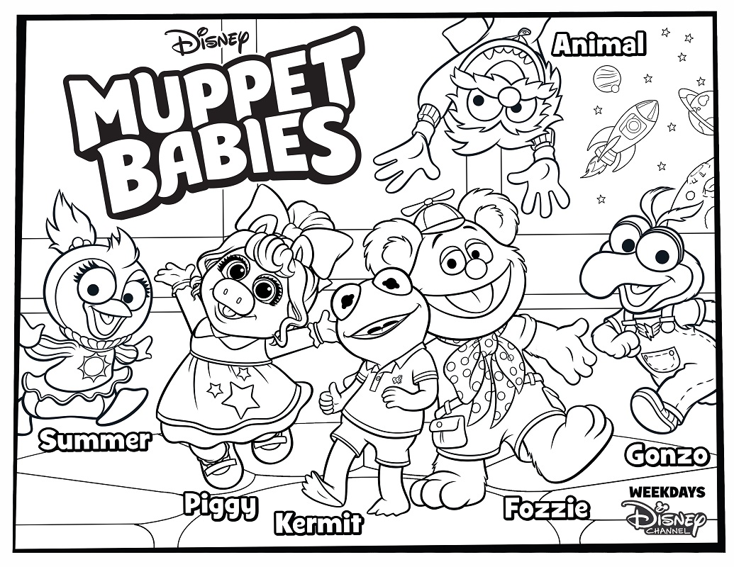 Top 20 Printable Muppet Babies Coloring Pages