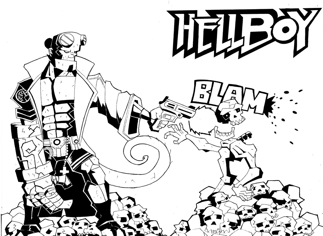 Top 20 Printable Hellboy Coloring Pages