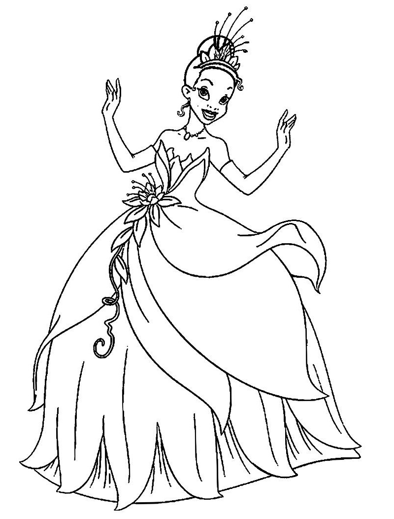 Top 20 Printable Princess Tiana Coloring Pages