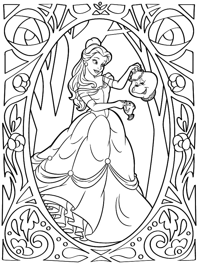 Top 20 Printable Belle Coloring Pages