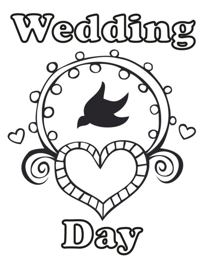 Top 20 Printable Wedding Coloring Pages