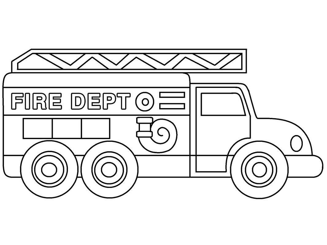 Top 20 Printable Fire Truck Coloring Pages