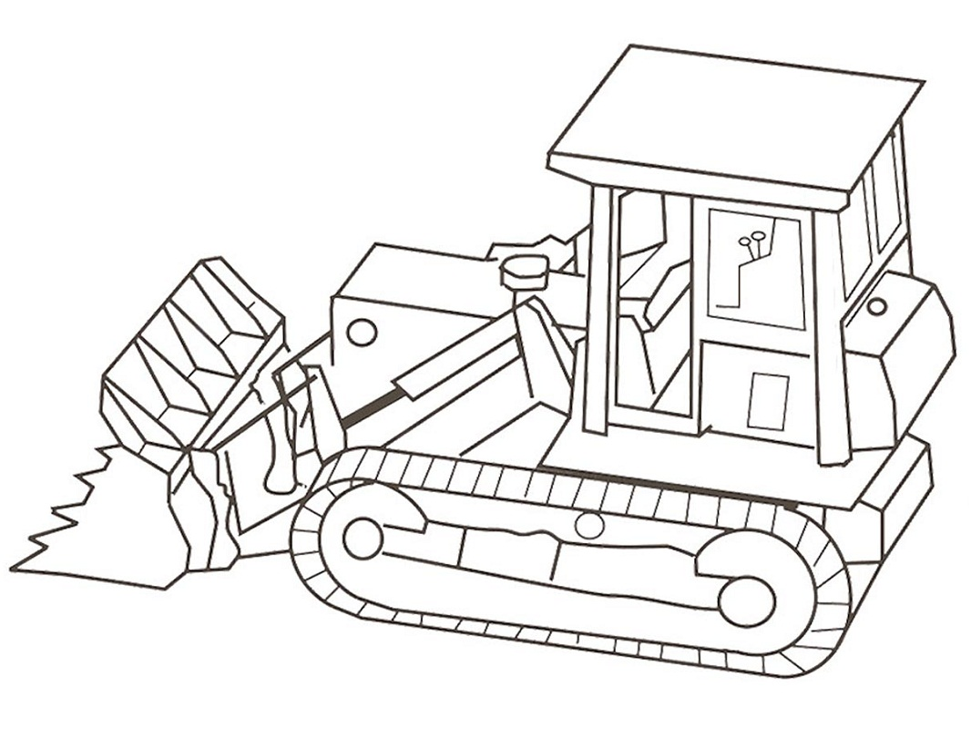 Top 20 Construction Vehicles Coloring Pages