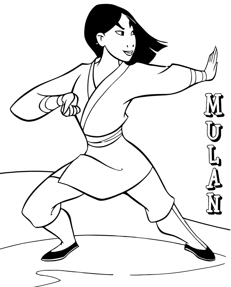 Top 20 Printable Mulan Coloring Pages