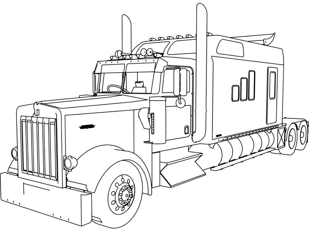 Top 20 Printable Truck Coloring Pages