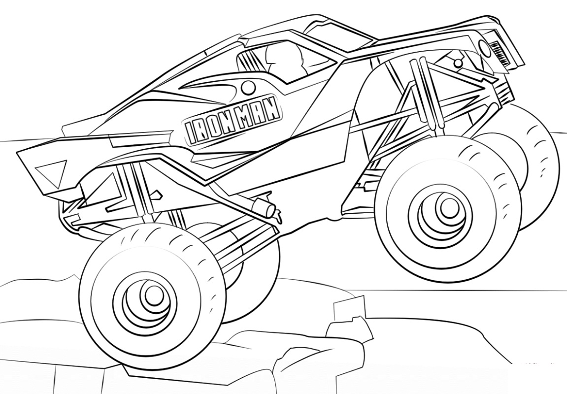 Top 20 Printable Monster Truck Coloring Pages - Online ...