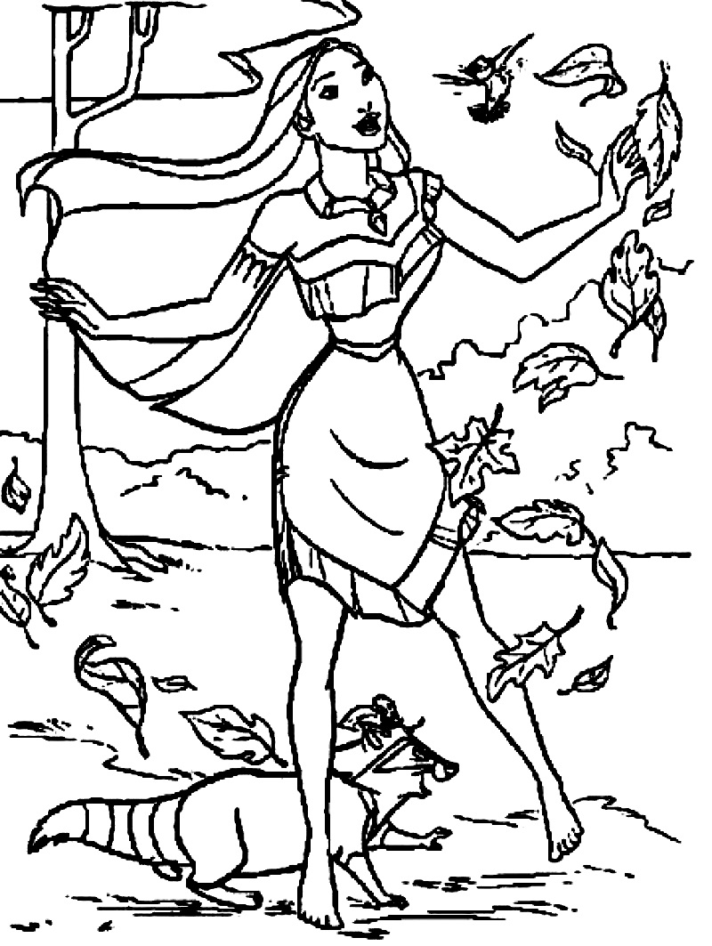 Top 20 Printable Pocahontas Coloring Pages