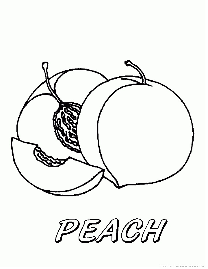 Top 20 Printable Peach Coloring Pages