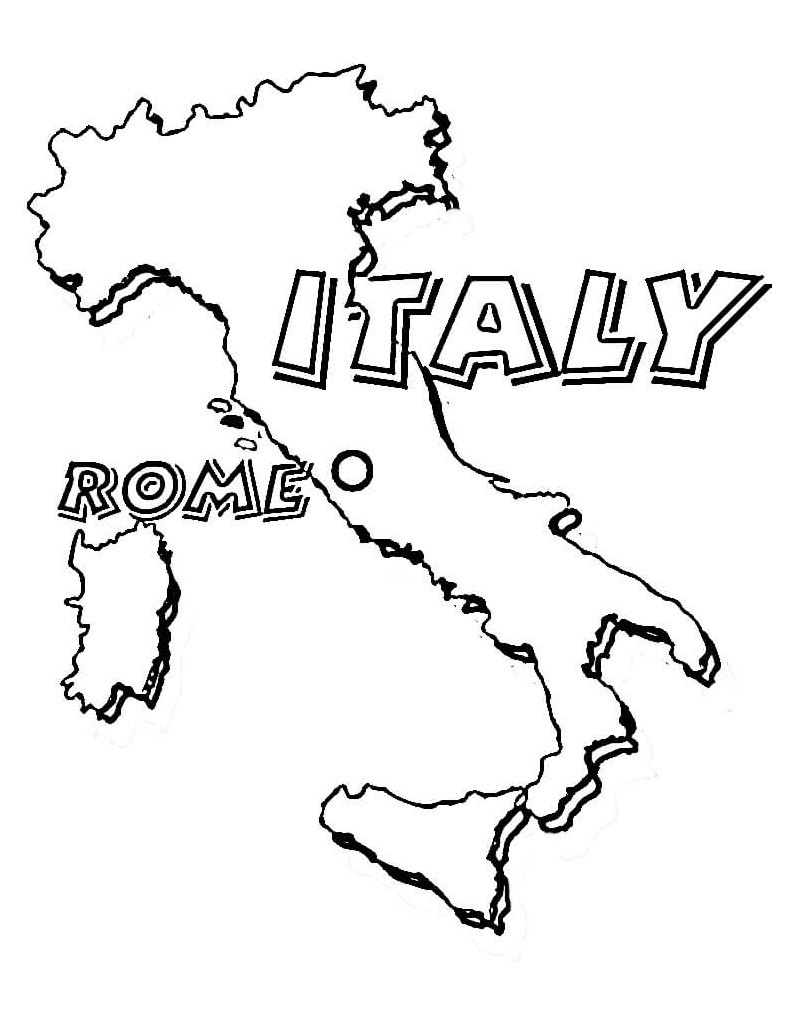Top 20 Printable Italy Coloring Pages