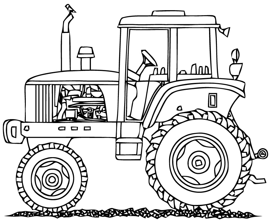 Top 20 Printable Tractor Coloring Pages