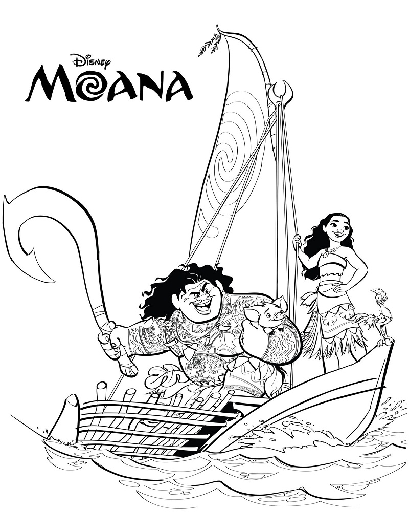 Top 20 Printable Moana Coloring Pages