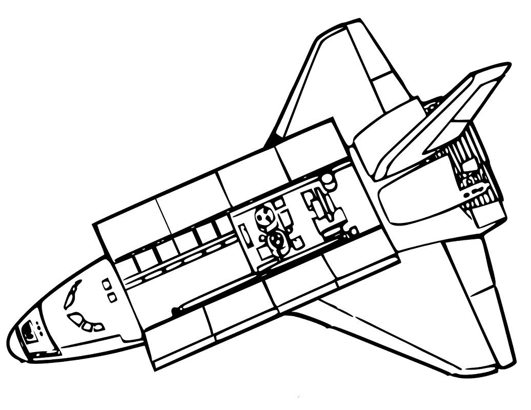 Top 20 Printable Spaceship Coloring Page
