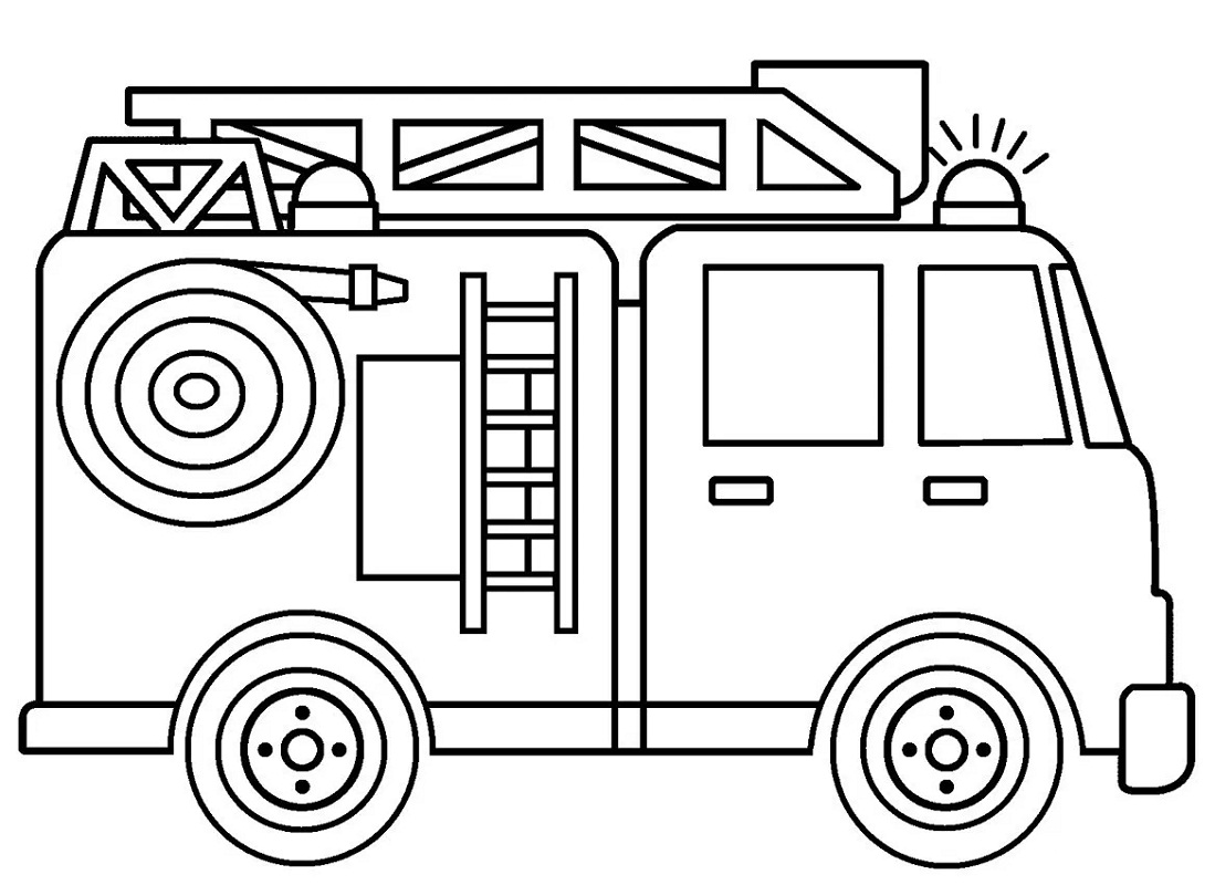 Top 20 Printable Fire Truck Coloring Pages - Online ...