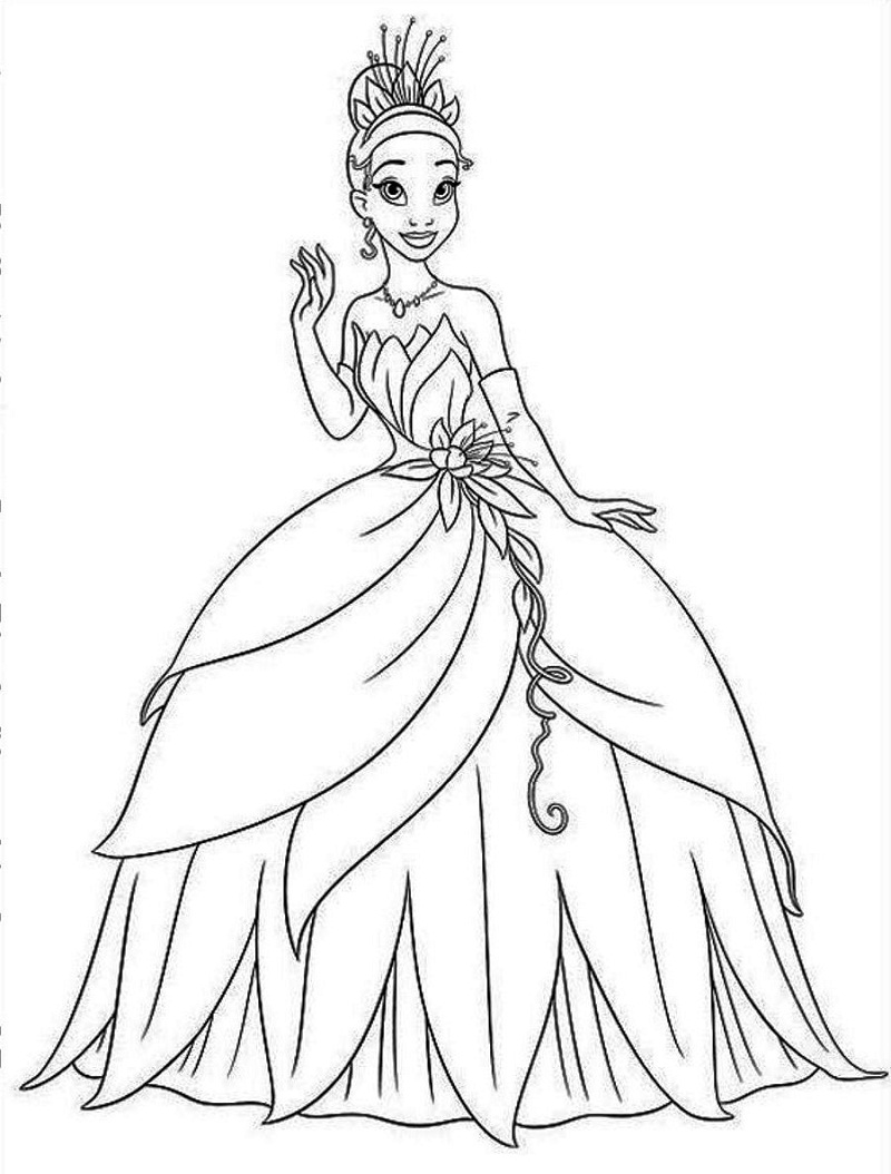 Top 20 Printable Princess Tiana Coloring Pages - Online ...