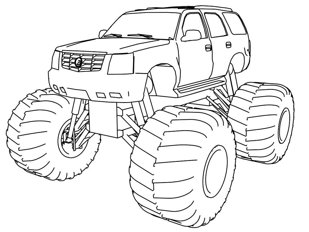 Top 20 Printable Monster Truck Coloring Pages